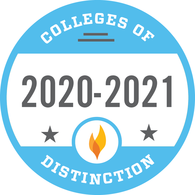 2021-2021 Colleges of Distinction logo
