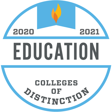 2020-2021 Education Colleges of Distinction Logo
