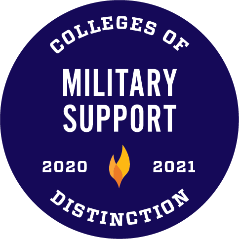 2020-2021 Military Support Colleges of Distinction Logo