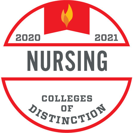 2020-2021 Nursing Colleges of Distinction Logo
