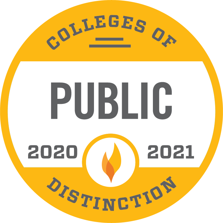 2020-2021 Public Colleges of Distinction Logo