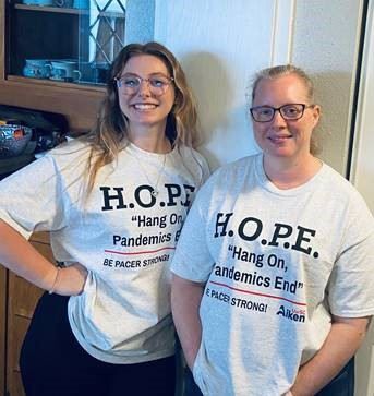 Fitchett family in hope shirts
