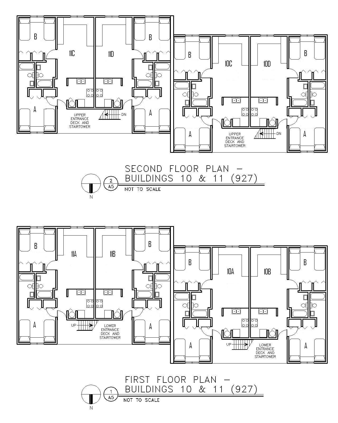 Floor Plan for Buildings 10 & 11