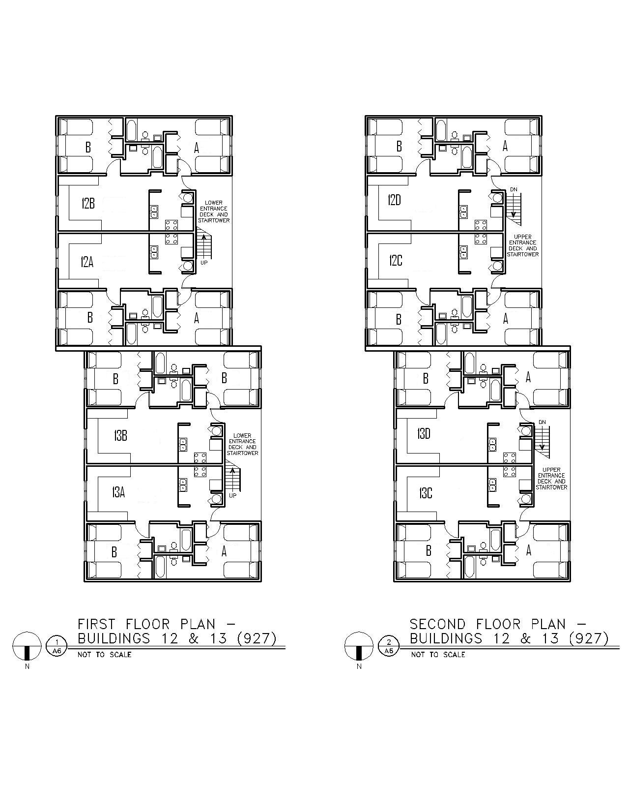 Floor Plan for Buildings 12 & 13