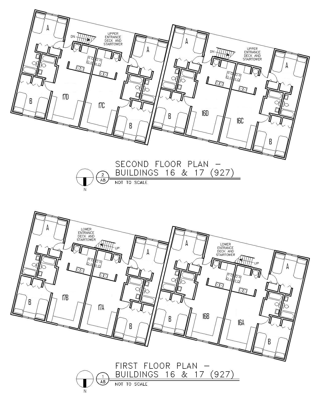 Floor Plan for Buildings 16 & 17