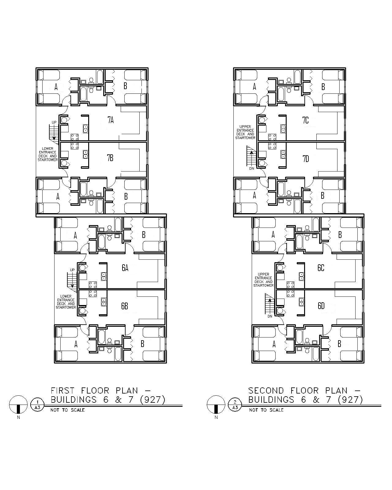 Floor Plan for Buildings 6 & 7