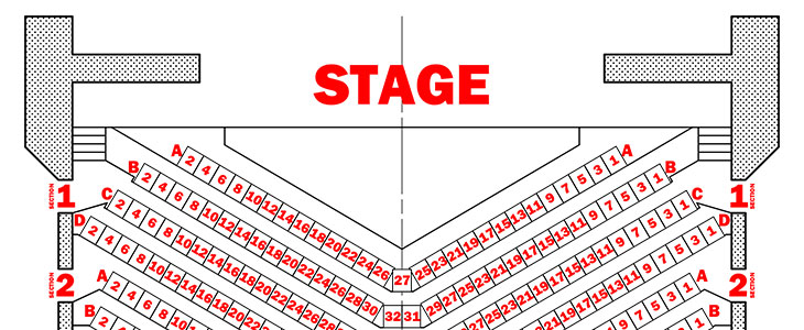 Main Theatre Seating Chart